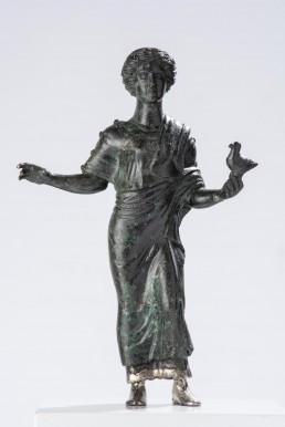 """Statuetta in bronzo """"fanciulla con colomba"""""""