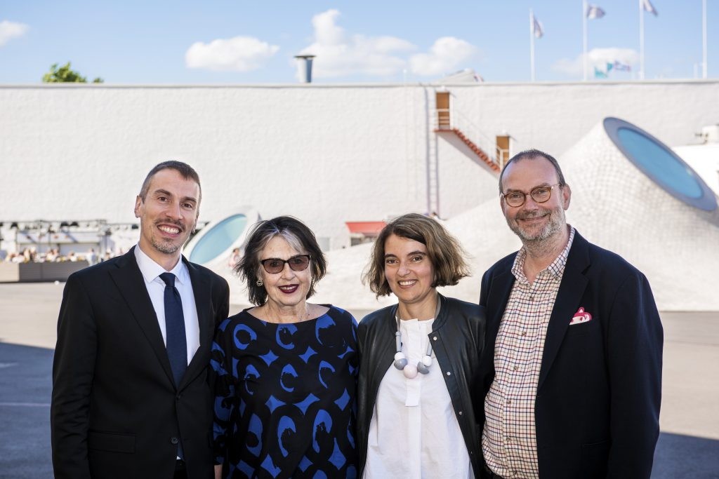 Credit: Museum Director of Museo Egizio, Christian Greco; Chief Executive Officer, Art Museum of Estonia, Sirje Helme; Director of Kumu Art Museum, Kadi Polli; Museum Director of Amos Rex, Kai Kartio; Photo: Stella Ojala / Amos Rex