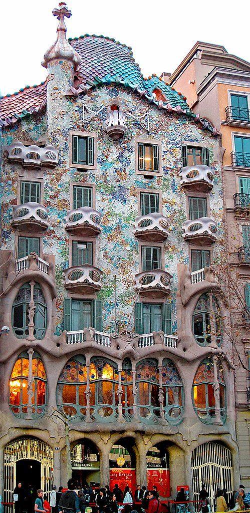 Casa Batlló Antoni Gaudí i Cornet Barcellona