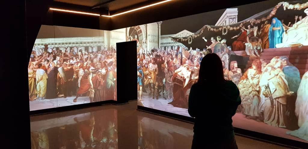 """Installazione multimediale presso la mostra """"Germanico Cesare... a un passo dall'Impero"""""""