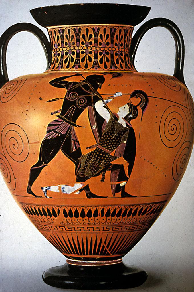 Exekias Achilles PentesileiaExekias Achille Pentesilea