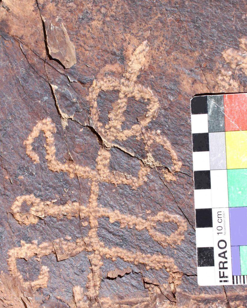 mantis petroglyph Iran
