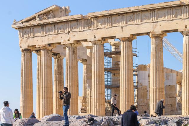Acropoli di Atene restauro