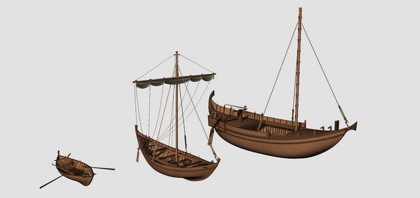 3D boats Rome