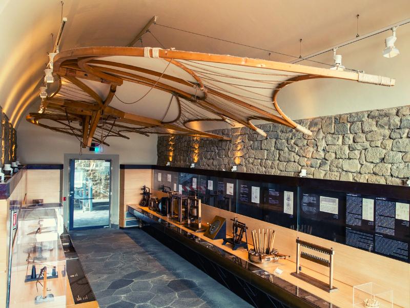 macchina volante Museo Leonardiano Roberta Barsanti Leonardo da Vinci