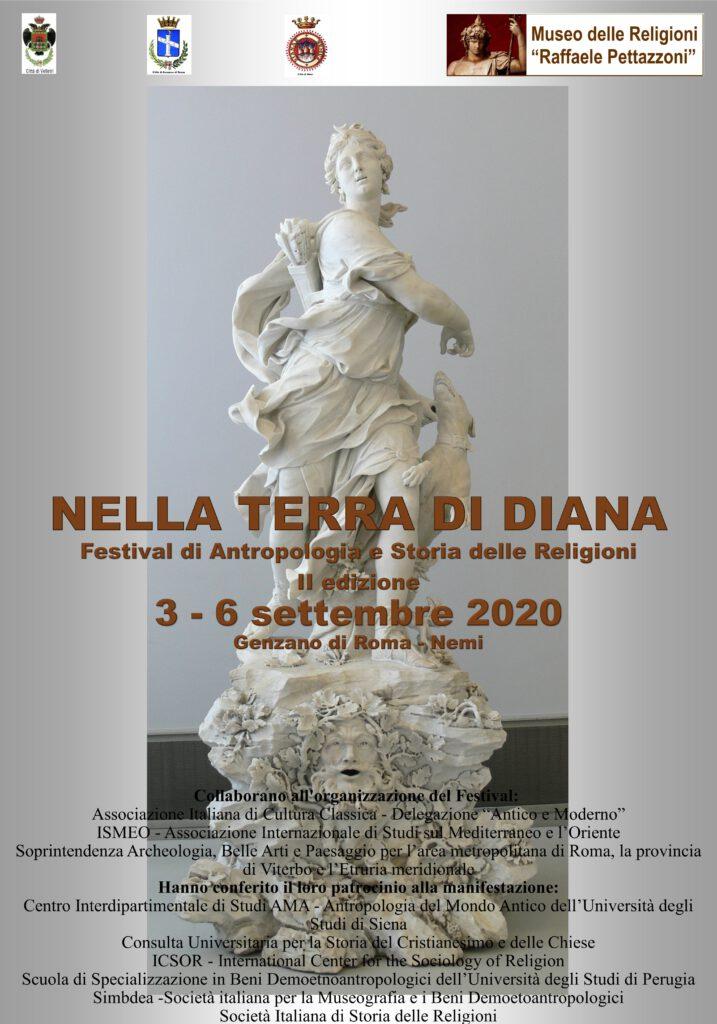 Nella Terra di Diana. Festival di Antropologia e di Storia delle Religioni seconda edizione Locandina
