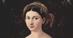 La Fornarina raggi X Raffaello Sanzio