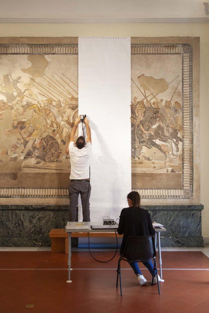 restauro mosaico Alessandro