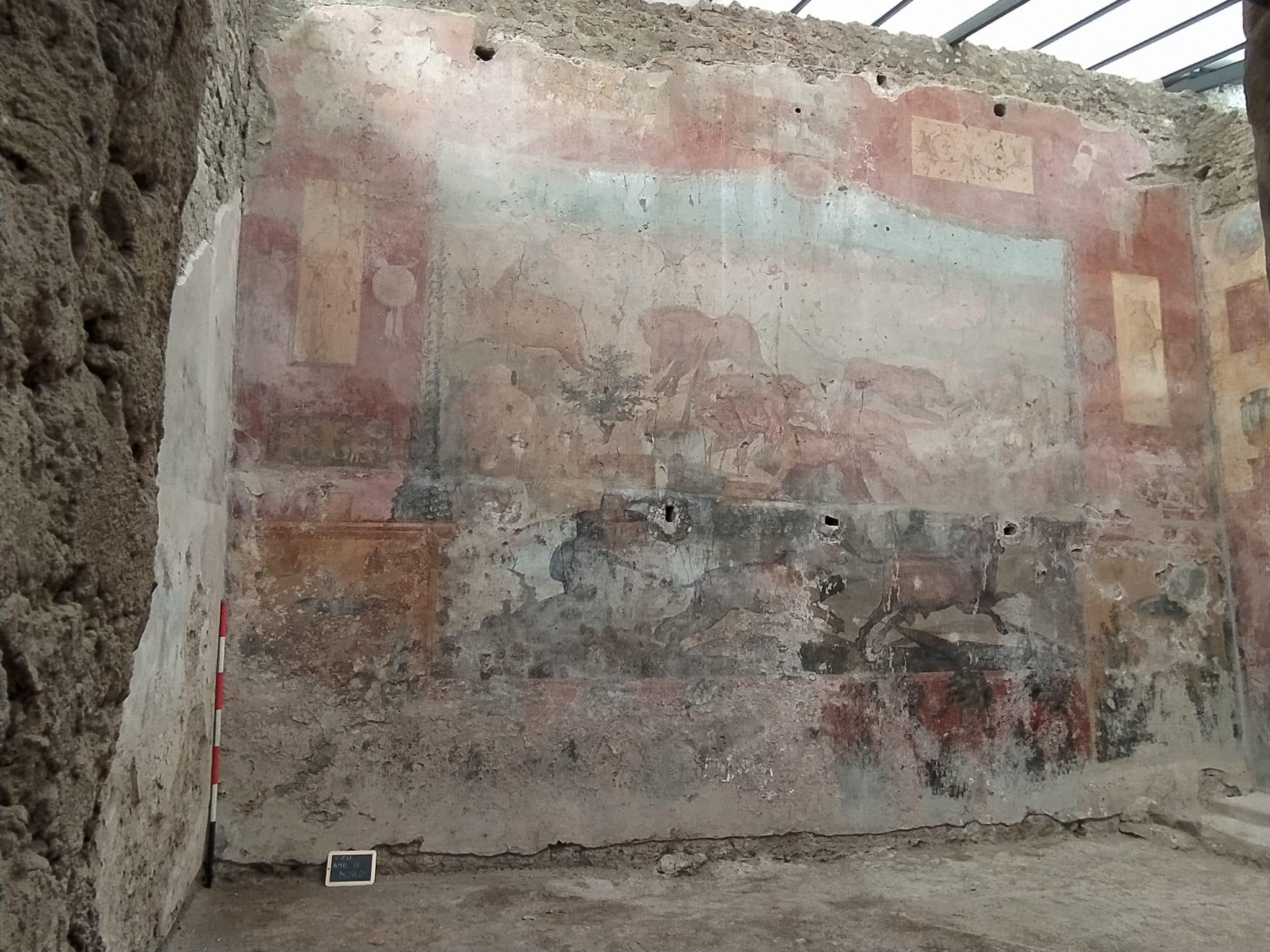 Casa dei Ceii restauro affresco egittizzante