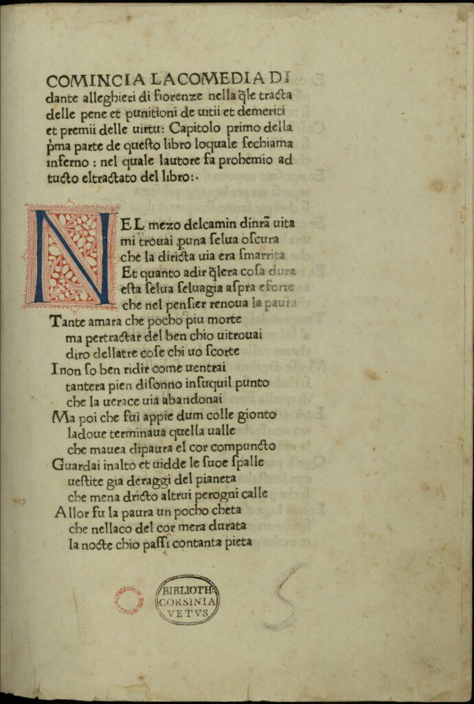 autografi autografo di Dante Alighieri