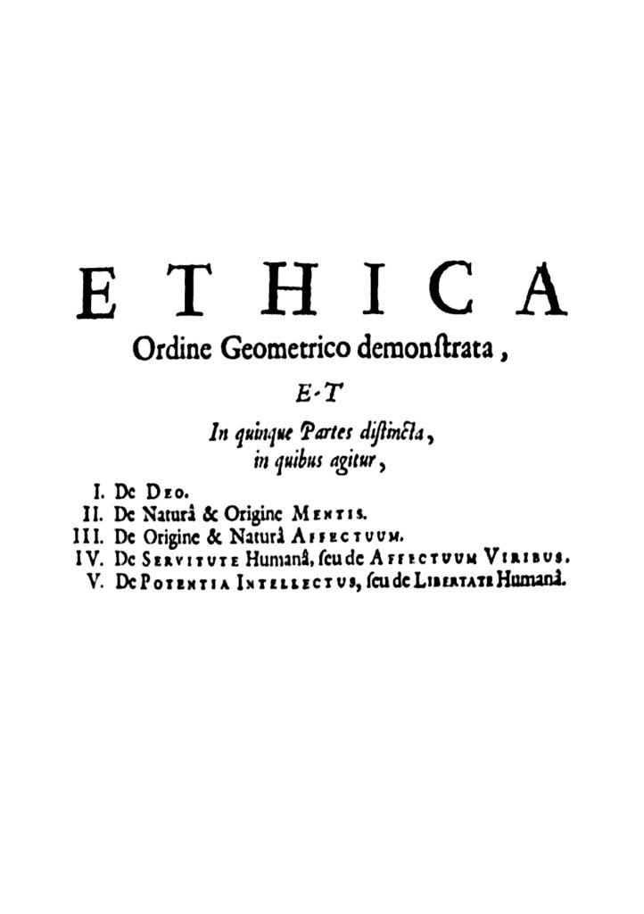 Spinoza Etica Ethica