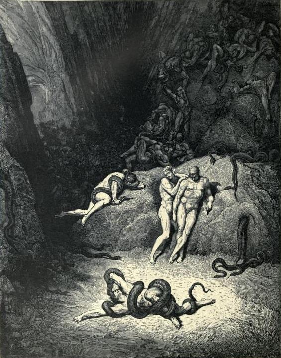 Dante Alighieri gesto osceno Vanni Fucci Inferno Malebolge